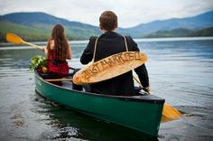 A CUP OF JO: Canoe elopement  Love this.