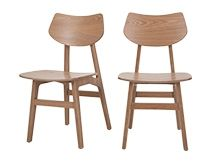 2 x Jacob Dining Chairs Natural Ash