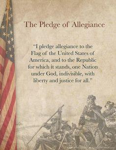 Pledge of Allegiance Words Printable                                                                                                                                                                                 More