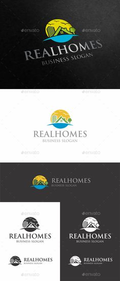 Real Homes Estate Logo — Vector EPS #banking #custom logo design • Available here → https://graphicriver.net/item/realhomes/18297043?ref=pxcr