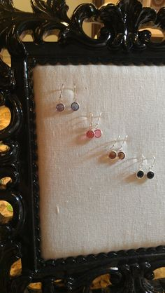 Dainty sterling silver birthstone dangle by thecharmedwife on Etsy, $7.99