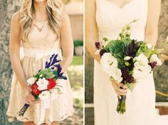 Love the bridesmaid dress on the left
