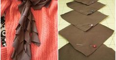 5. #Cascading Squares - 10 #Sweet DIY Scarves to Sew ... → #Fashion #Projects