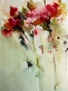 one of my watercolors Abstract Flowers, Abstract Watercolor, Watercolor Illustration, Watercolor Flowers, Watercolor Water, Watercolor Painting Techniques, Watercolor Paintings, Watercolours, Alcohol Ink Art