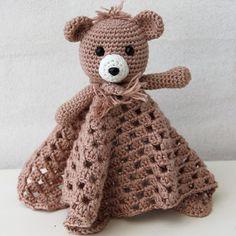 Nusseklud med bamse fra Go Handmade Dou Dou, Crochet, Unisex, Toys, Handmade, Animals, Teddy Bears, Design, Amigurumi