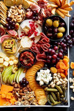 A loaded holiday Cheeseboard to kick off your day/night with an easy and quick, throw together cheeseboard that requires zero skill and no prep work! | Cafe Delites