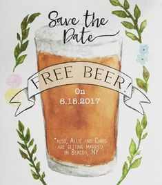 Talk about an incentive to RSVP! These printable wedding save-the-dates say it all + then some.