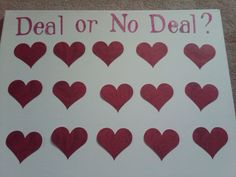 A Home for a Bunny: Valentine's Day Game: Deal or No Deal. We might be able to make this work Valentines Games For Couples, Anti Valentines Day, Valentines Day Couple, Valentine Activities, Valentines Gifts For Boyfriend, Valentines Day Decorations, Valentines For Kids, Valentine Games, Valentine Party