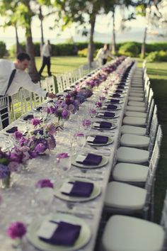 Hawaii Wedding : Lanikuhonua : Table Decor : Purple : Magenta : Finishing Touch Hawaii : Shawn Starr Photography