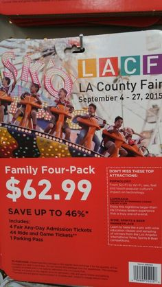 La fair La County Fair, Costco Deals, Admission Ticket, Game Tickets, Baseball Cards