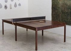 BDDW Ping Pong Table in Walnut