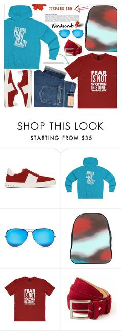 """""""What a man! By 77 Spark"""" by tinkabella222 ❤ liked on Polyvore featuring Valentino, Anja, Ray-Ban, 40 Colori, PS Paul Smith, men's fashion, menswear, allblack, casualstyle and 77spark"""