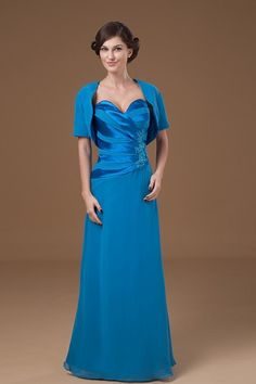 Satin Sweetheart Floor Length A-line Mother Of The Bride Dress with Jacket - Alice Bridal