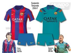 maillot 2016-17 du FC Barcelone