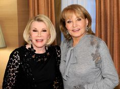 Barbara Walters: Joan Rivers was raunchy and did anything for a laugh on stage, but in private, she was elegant Barbara Walters, Twitter Card, Make Millions, Star Pictures, Joan Rivers, Meryl Streep, Before Us, Celebs, Celebrities