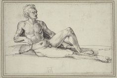 A Nude Man Reclining (1526) Museum of Fine Arts, Boston   WWW  1.https://commons.wikimedia.org/wiki/File:Durer_Nude_man_reclining.jpg 2. http://www.mfa.org/collections/object/a-nude-man-reclining-holding-a-club-260818