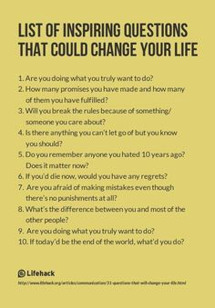 List of Inspiring Questions That Could Change Your Life. I use some of these inspiring questions with my clients in Life Shift Coaching! The Words, Life Questions, This Or That Questions, Coaching Questions, Interesting Questions To Ask, Amazing Questions, Questions To Ask People, Psychology Questions, Questions To Ponder