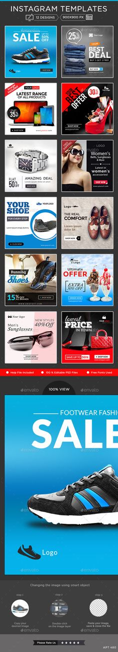 Instagram Banner Templates - Download Here : http://graphicriver.net/item/instagram-banner-templates-12-designs/10778266?s_rank=6&ref=yinkira