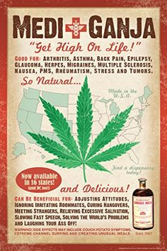 Buy top quality Cannabis Seeds from Seedsman. Our range of marijuana seeds is one of the largest online, with more than 3000 varieties of Cannabis Seeds. Marijuana Art, Medical Cannabis, Marijuana Funny, Vintage Ads, Vintage Posters, Vintage Advertisements, Vintage Medical, Medical Posters, Funny Posters