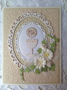Handmade First Holy Communion Card por scrapproject2014 en Etsy