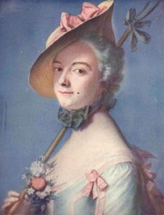 Madame de Pompadour as a Shepherdess,de la Tour There is history behind this woman!