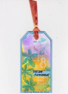 This time I made a little Tag.   Voici une petite étiquette.   *****    Produits Magenta utilisés:     Magenta products used:       0...