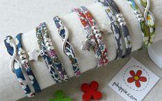 Regalos para Comunión, pulseras Liberty de flores originales para invitados.