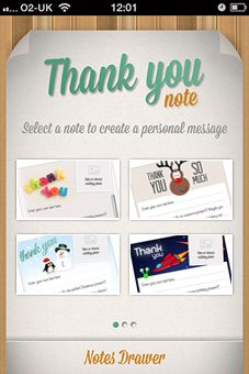 "GRATITUDE | ""Thank You Note"" app for the iPhone helps you indulge in spontaneous moments of thanks."