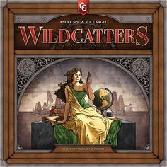 Wildcatters game box cover- I love how it is reminiscent of the Educational Series of US banknotes