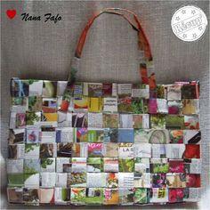 Recycler magazine ou prospectus : un sac en papier recyclé !