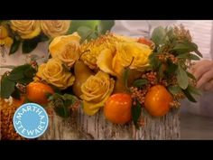 Rustic Holiday Flower Arrangement ⎢Thanksgiving Decorations | Martha Ste...and LEWIS