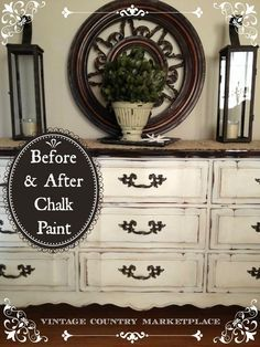 Refinished dresser with Annie Sloan Chalk Paint and Coffee Colored Stain for the top