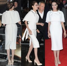 Angelina Jolie Picks the Wrong Shoes to Pair with Her White Pencil Dress