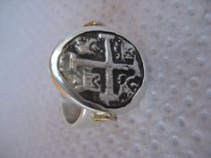 Atocha Coin Pear Sterling Silver Ring by NauticalFeeling on Etsy, $179.00
