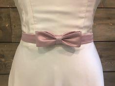 Satin bow belt by eandw on Etsy