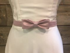 Satin bow belt by eandw on Etsy