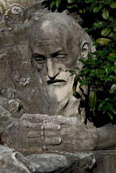 Cemetery in Staglieno in Genoa, Italy