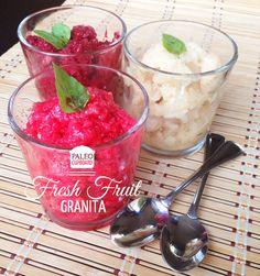 Paleo Fresh Fruit Granita Recipe - paleocupboard.com