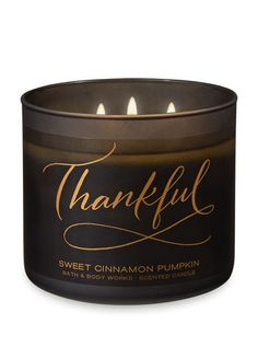 Sweet Cinnamon Pumpkin Candle - Bath And Body Works Bath Candles, 3 Wick Candles, Scented Candles, Candle Jars, Mountain House Decor, Candels, Wax Melts, Bath And Body Works, Cool Gifts