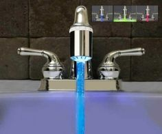 Color changing faucet indicates water temp.  ShitYouCanAfford.com :: Best Products On Amazon under $20
