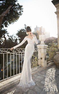 off the shoulder lace wedding dress by @Roberta Cruz