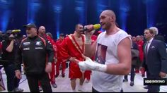 After beating Wladimir Klitschko, Fury couldn't help but serenade his wife in the ring.
