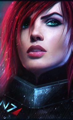 Commander Shepard Mass Effect Mass Effect Characters, Mass Effect Games, Mass Effect 1, Mass Effect Universe, Sci Fi Characters, Fictional Characters, Commander Shepard, Art Manga, Video Game Art