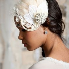 The Rustic Chic version of a Tiara - a flower in your hair!