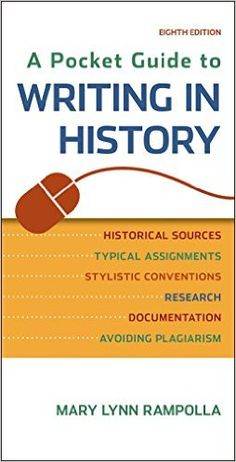 Pin by brook hanson on us history course pinterest a pocket guide to writing in history mary lynn rampolla 9781457690884 amazon fandeluxe Image collections