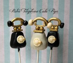Retro Telephone Cake Pops