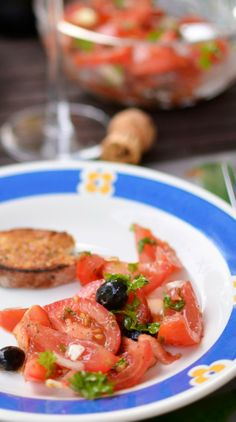 Delicious tomatoe salad for summer dishes
