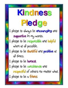 I was very sick of the unkindness I was seeing in my classroom when I created this. I printed on cardstock, laminated, and posted in several place. Teaching Kindness, Kindness Activities, Bullying Activities, Teaching Activities, Classroom Behavior, Classroom Management, Class Management, Behavior Management, Classroom Ideas