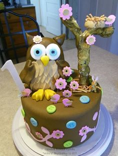 fondant owl template | If you choose one of our tiered cakes....we are happy to make each ...