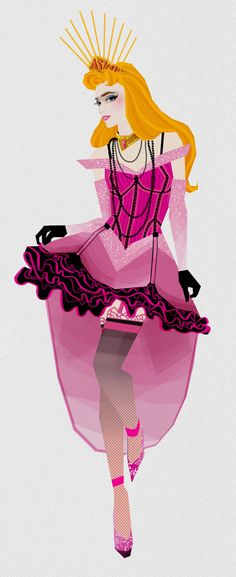 princesse disney burlesque - Aurora